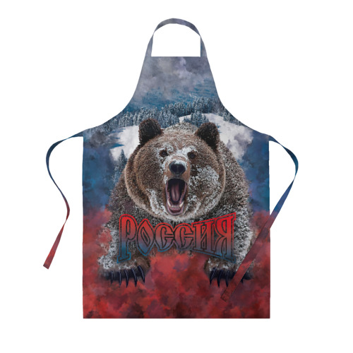 Фартук 3D Русский медведь Фото 01