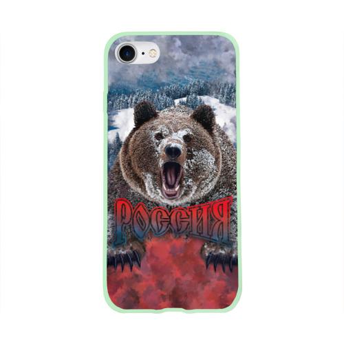 Чехол для Apple iPhone 8 силиконовый глянцевый Русский медведь Фото 01
