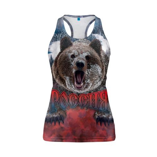 Женская майка 3D спортивная Русский медведь Фото 01