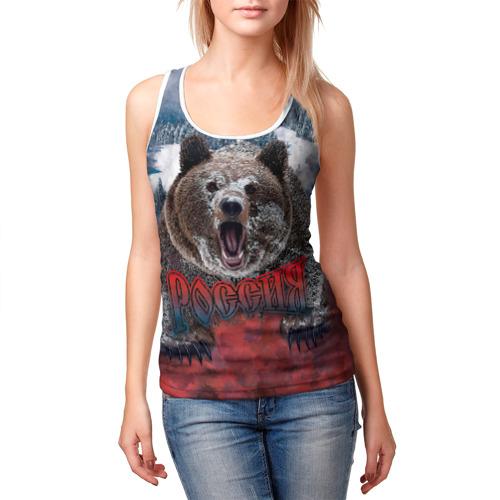 Женская майка 3D  Фото 03, Русский медведь