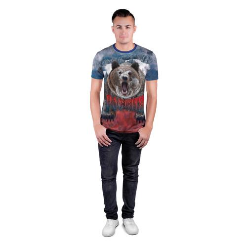 Мужская футболка 3D спортивная Русский медведь Фото 01