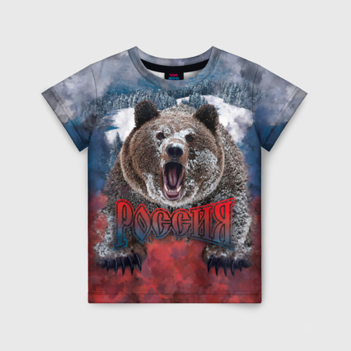 Детская футболка 3D Русский медведь Фото 01