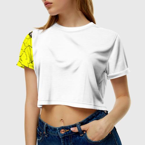 Женская футболка 3D укороченная  Фото 01, Я Русский Имперский флаг