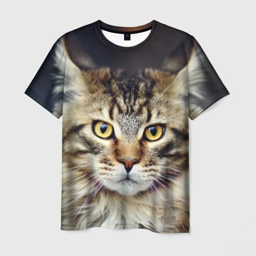 Мужская футболка 3D Пушистый кот
