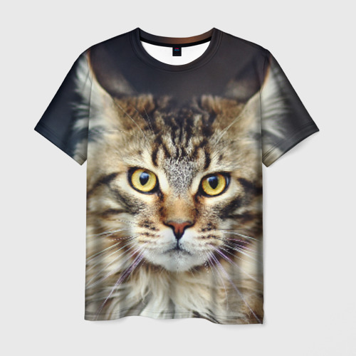 Мужская футболка 3D  Фото 01, Пушистый кот