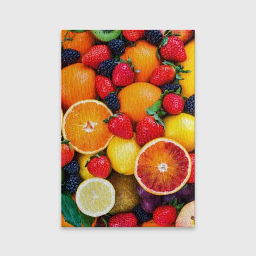 Обложка для паспорта матовая кожа  Фото 02, Мультифрукт