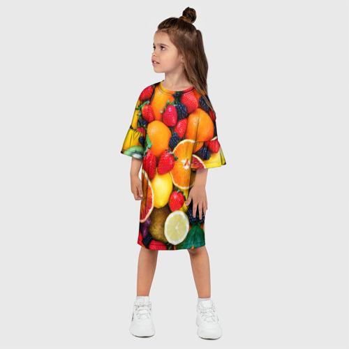 Детское платье 3D  Фото 03, Мультифрукт