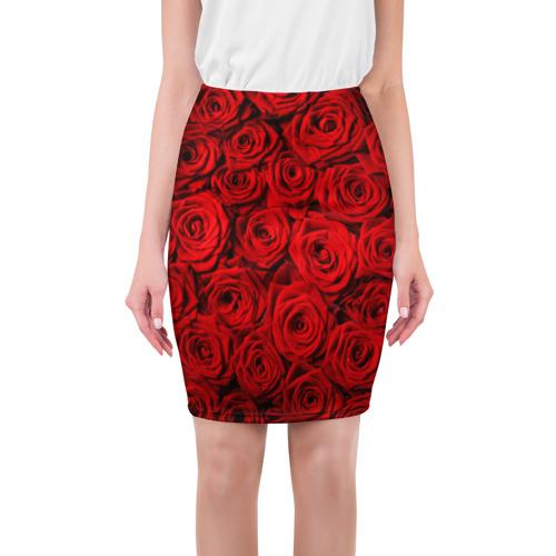 Юбка 3D Красные розы