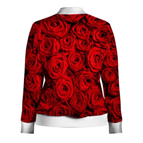 Женская олимпийка 3D  Фото 02, Красные розы