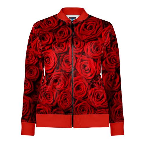 Женская олимпийка 3D Красные розы