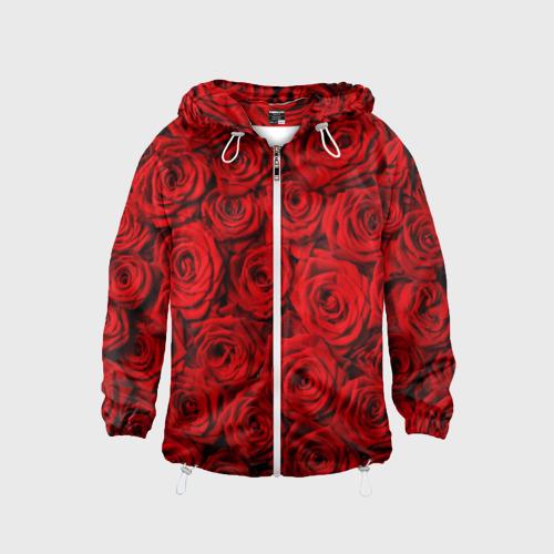 Детская ветровка 3D  Фото 01, Красные розы