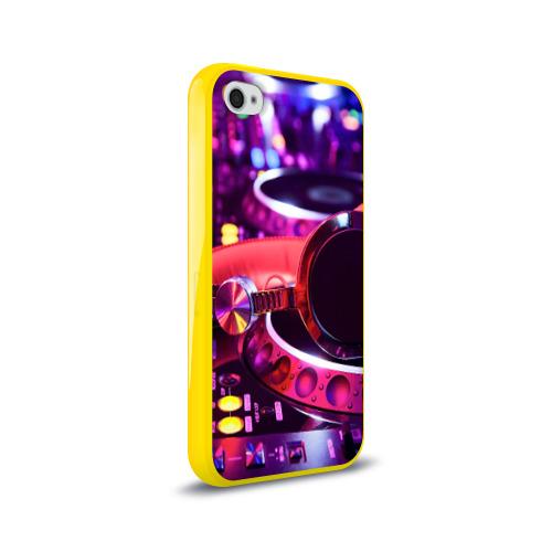 Чехол для Apple iPhone 4/4S силиконовый глянцевый DJ Mix Фото 01