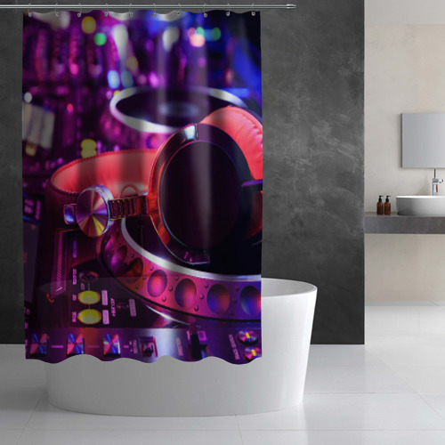 Штора 3D для ванной  Фото 02, DJ Mix