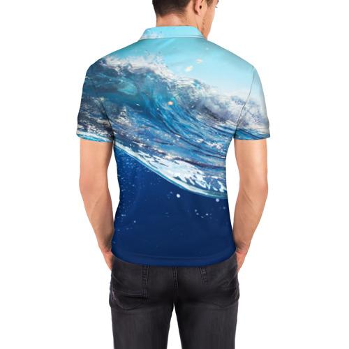 Мужская рубашка поло 3D  Фото 04, Стихия воды