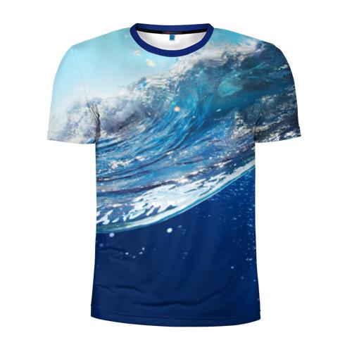 Мужская футболка 3D спортивная Стихия воды