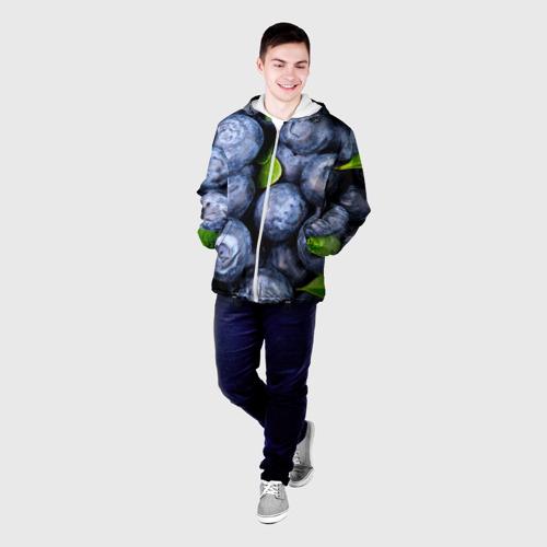 Мужская куртка 3D  Фото 03, Черника