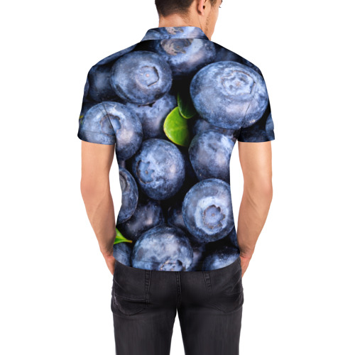 Мужская рубашка поло 3D  Фото 04, Черника
