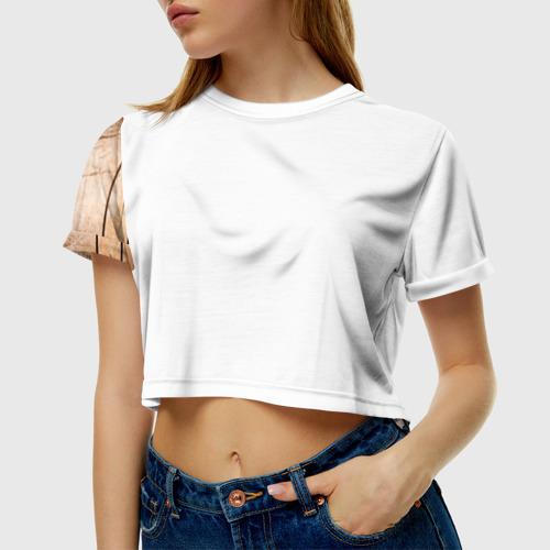 Женская футболка 3D укороченная  Фото 01, Ягодный микс