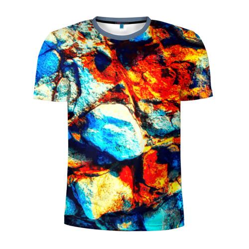 Мужская футболка 3D спортивная Камень
