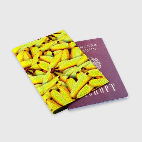 Обложка для паспорта матовая кожа  Фото 03, Банана
