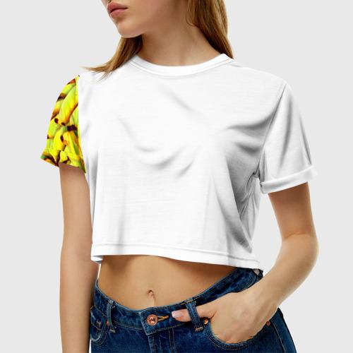 Женская футболка 3D укороченная  Фото 01, Банана