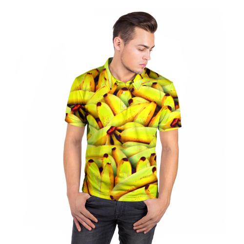 Мужская рубашка поло 3D  Фото 05, Банана