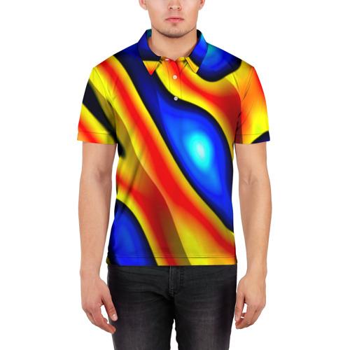 Мужская рубашка поло 3D  Фото 03, Glass