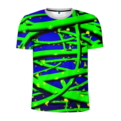 Мужская футболка 3D спортивная Шипы