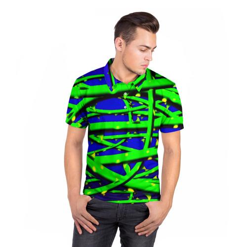Мужская рубашка поло 3D  Фото 05, Шипы