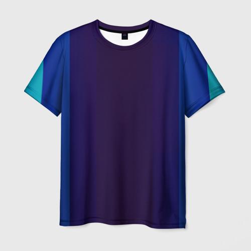 Мужская футболка 3D Blue