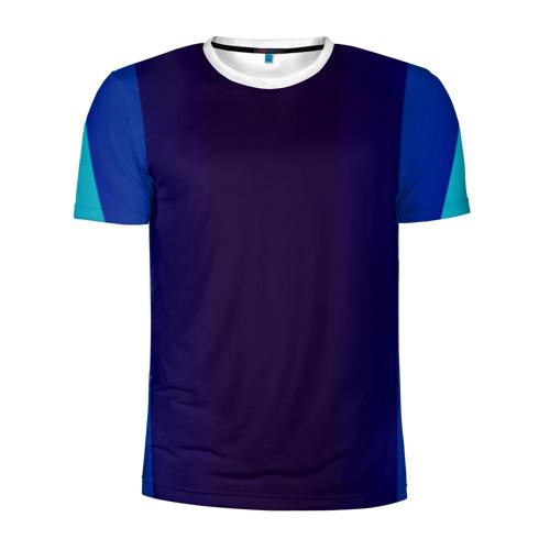 Мужская футболка 3D спортивная Blue