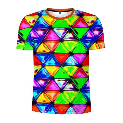 Мужская футболка 3D спортивная Треугольник