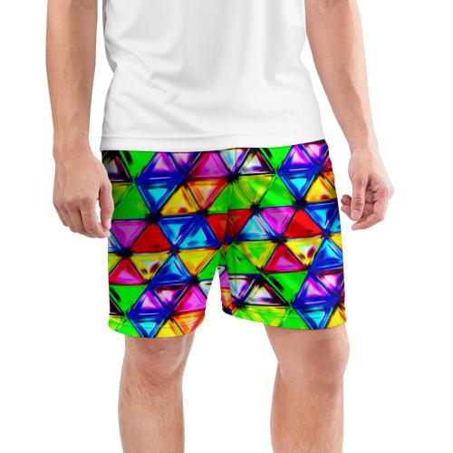 Мужские шорты 3D спортивные  Фото 03, Треугольник