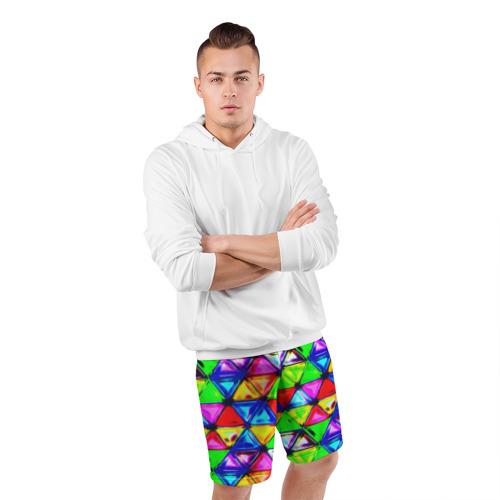 Мужские шорты 3D спортивные  Фото 05, Треугольник