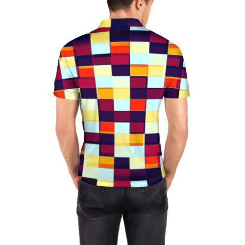 Мужская рубашка поло 3D  Фото 04, Кубы