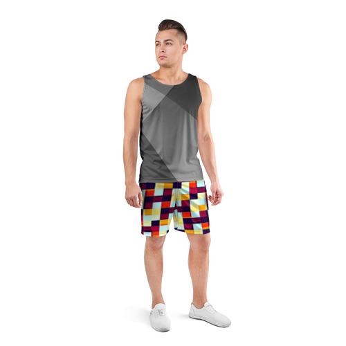 Мужские шорты 3D спортивные  Фото 04, Кубы