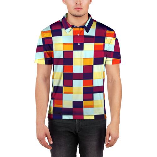 Мужская рубашка поло 3D  Фото 03, Кубы