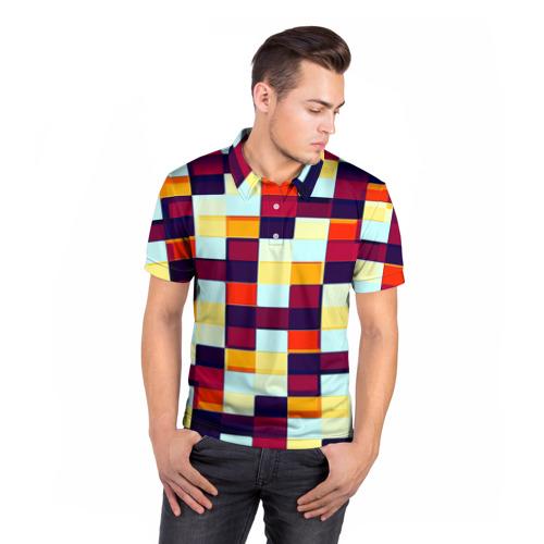 Мужская рубашка поло 3D  Фото 05, Кубы