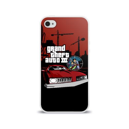 Чехол для Apple iPhone 4/4S силиконовый глянцевый  Фото 01, GTA 3