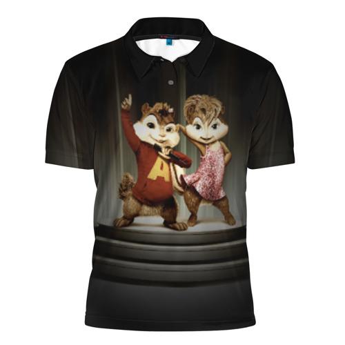 Мужская рубашка поло 3D  Фото 01, Бурундучки