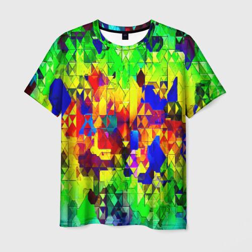 Мужская футболка 3D Стекло