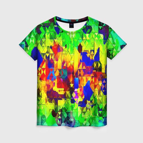 Женская футболка 3D Стекло