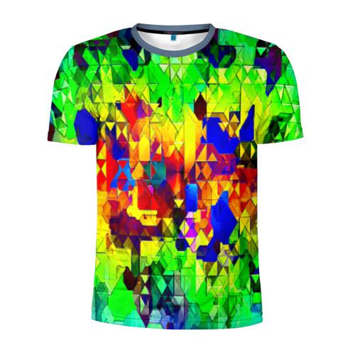 Мужская футболка 3D спортивная Стекло