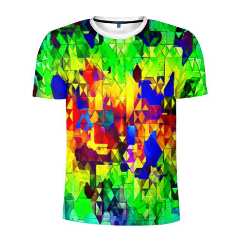 Мужская футболка 3D спортивная  Фото 01, Стекло