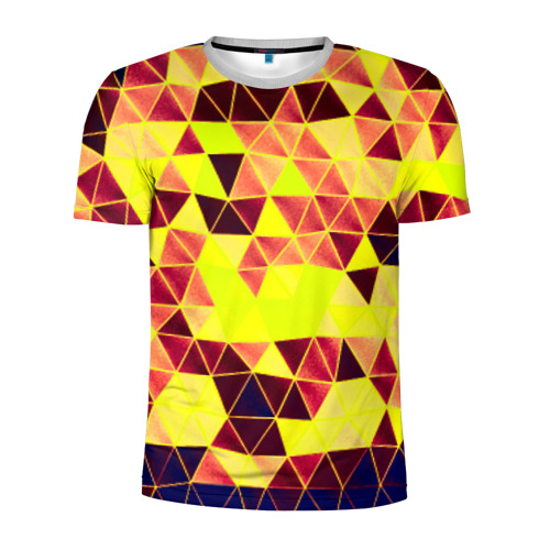 Мужская футболка 3D спортивная Мозаика