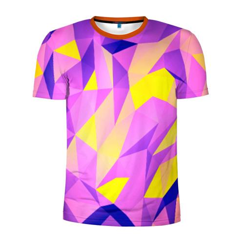 Мужская футболка 3D спортивная Texture