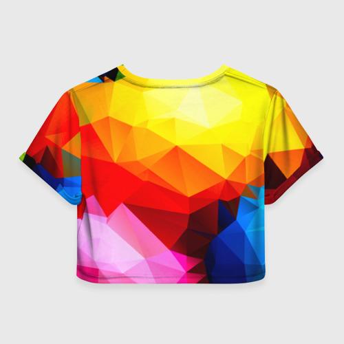 Женская футболка 3D укороченная  Фото 02, Абстракция