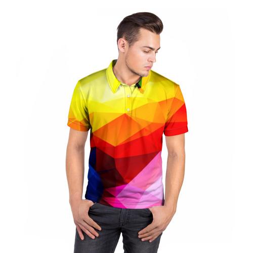 Мужская рубашка поло 3D  Фото 05, Абстракция