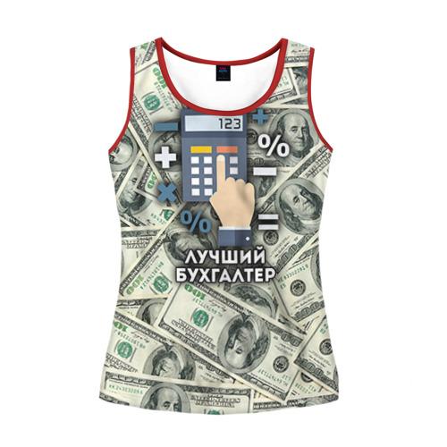 Женская майка 3D Лучший бухгалтер