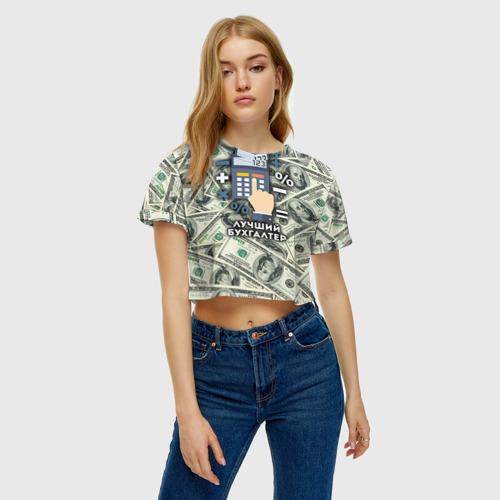 Женская футболка 3D укороченная  Фото 04, Лучший бухгалтер